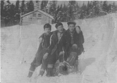 Camp 8 , Alex Newbury, Gus Rideout & Stan Dwyer 1945